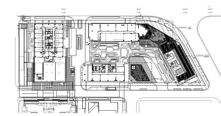 [上海]创智天地酒店景观及办公区景观设计CAD施工图(含文本)
