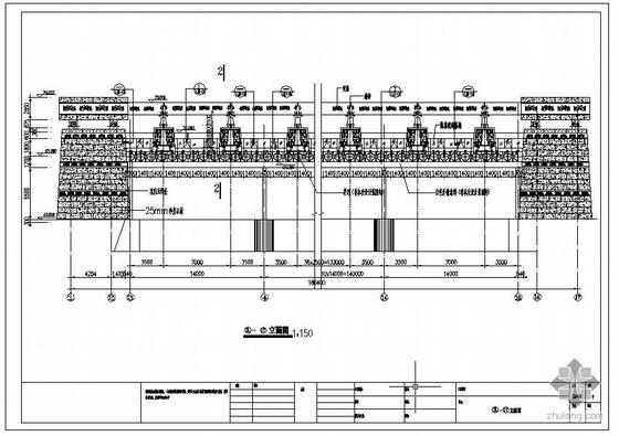 某水库机房幕墙结构图
