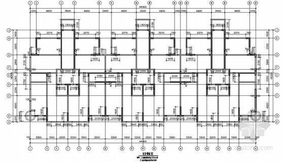 剪力墙结构住宅楼结构施工图(18层 筏板基础)
