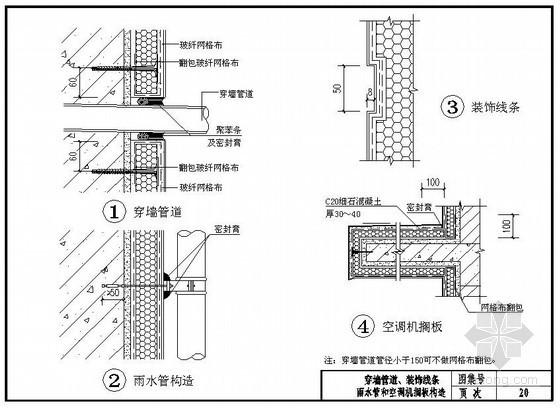 酚醛板外墙外保温系统穿墙管、装饰性构造