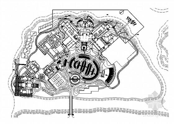 [天津]会所岛景观设计施工图