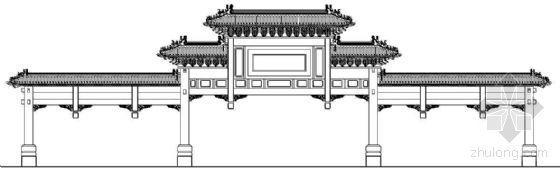 古建牌坊建筑立面方案