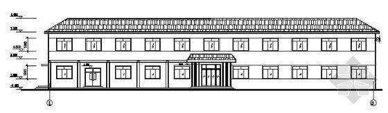 某半坡顶二层宿舍楼建筑结构图纸