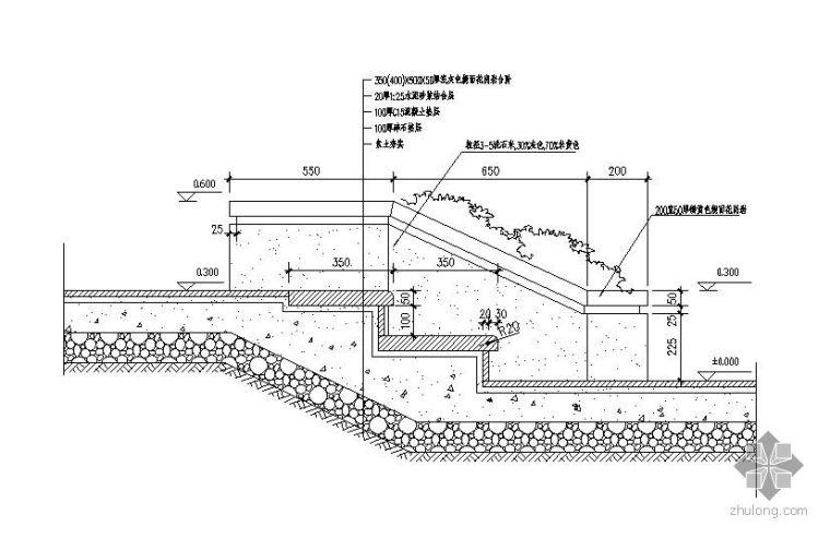 标准台阶剖面图