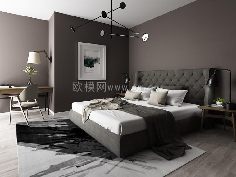 理想型卧室装修,周末就窝在这里面不想出门了哈哈哈~欧模网-14624471801008109251.jpg