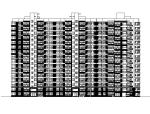 [江西]高层条状对称布局住宅楼建筑施工图