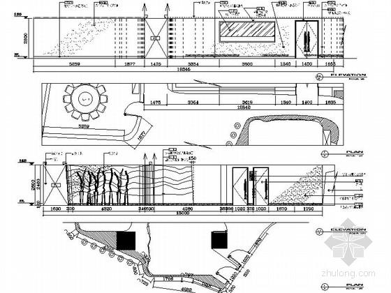 公共空间立面图