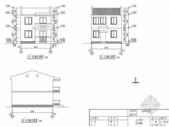 [江苏]两层砖混结构农村自建房结构图(含建筑图)