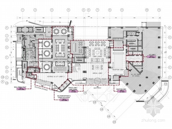 [北京]东三环CBD全球控股超五星级高端豪华白金酒店施工图(含效果)