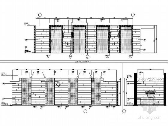 [上海]豪华现代酒店卫生间电梯厅走道室内装修施工图(含效果)电梯厅及走廊立面图