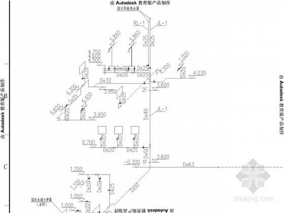 [湖南]加油站给排水施工图(热水供应)