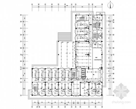 [江苏]17层公寓式酒店强弱电施工图(商铺 客房)