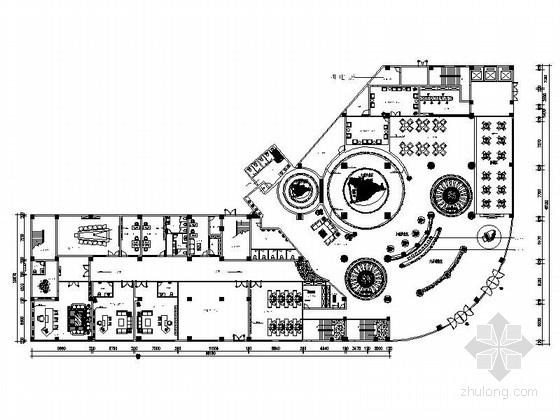 [福建]大型企业集团奢华售楼部AB区装修图(含效果)