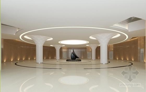 [北京]药品监督管理部门现代高档综合楼室内设计方案展厅效果图
