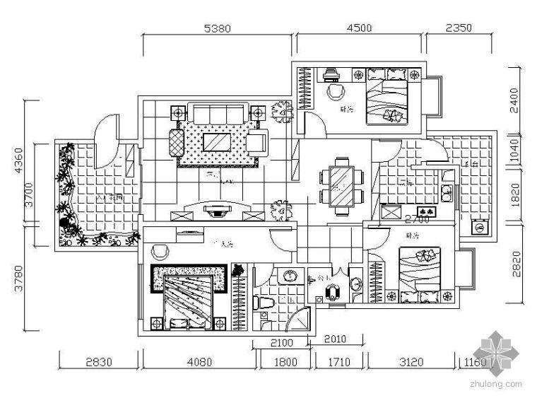 三房两厅设计方案(含效果)