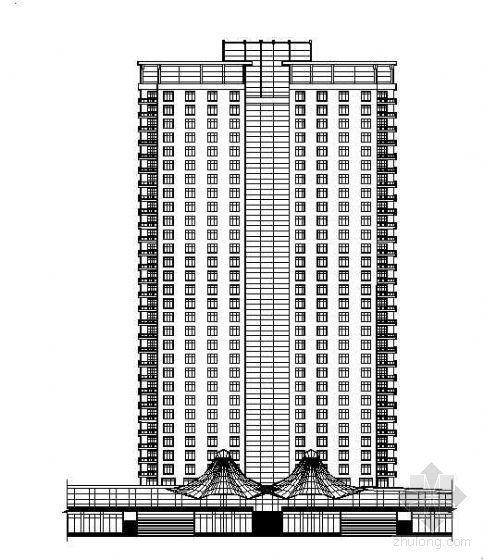 框架结构酒店式公寓资料下载-[上海]某小区单体建筑楼群方案