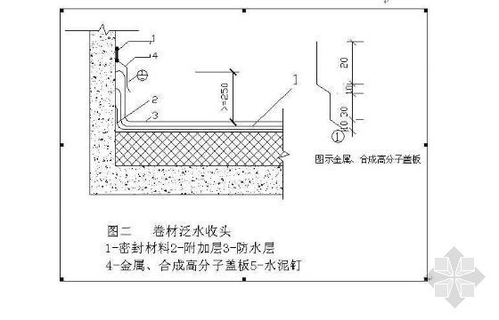 卷材屋面防水层泛水收头防渗漏作法