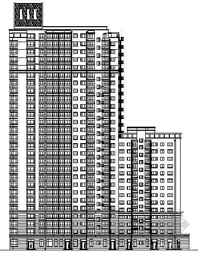 哈市某二十六层住宅楼建筑方案图