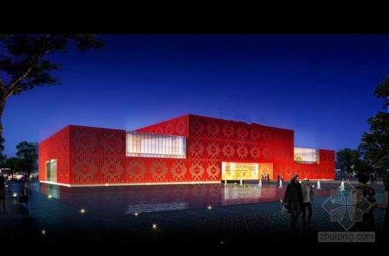 [安徽]两层现代风格钢框架知名地产售楼处建筑设计方案文本(附估算表)