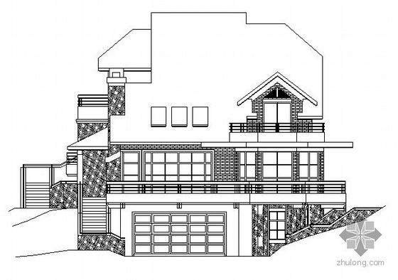 杭州绿城某4号套独立山地别墅建筑方案图