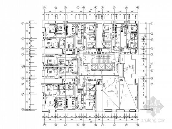[陕西]高层商住楼强弱电全套施工图纸(含计算书、2014年编制)