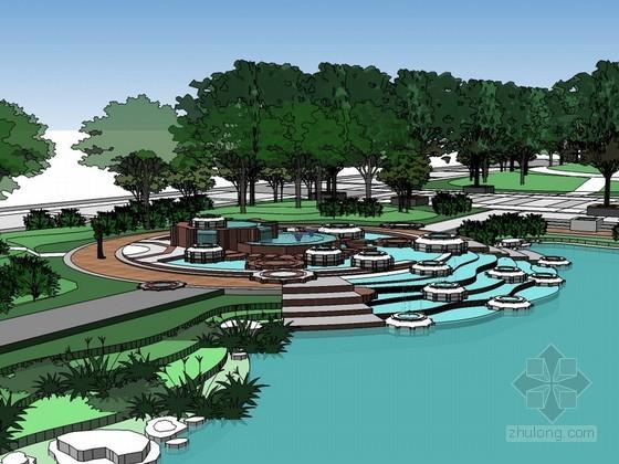 经典景观园林设计SketchUp模型