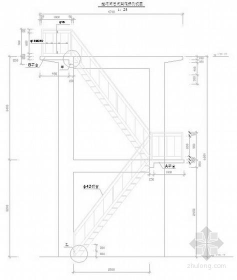 水电站启闭排架爬梯图