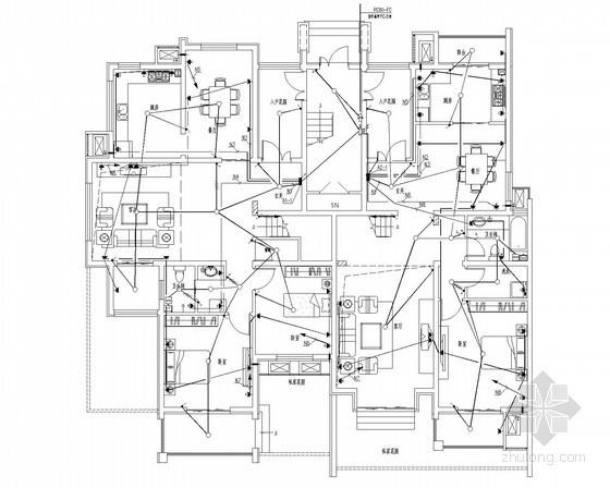 [山东]别墅小区强弱电施工图49张(甲级设计院)