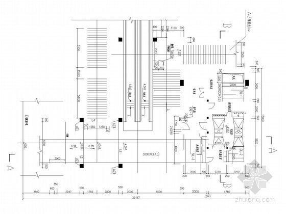 人行隧道通风系统设计施工图(半横向式通风设计)