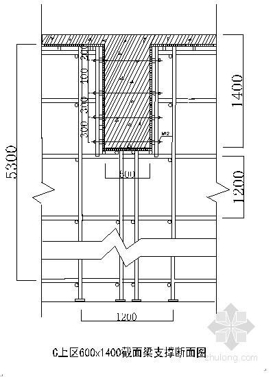[天津]框剪结构大厦高支模施工方案(计算书、布置图)