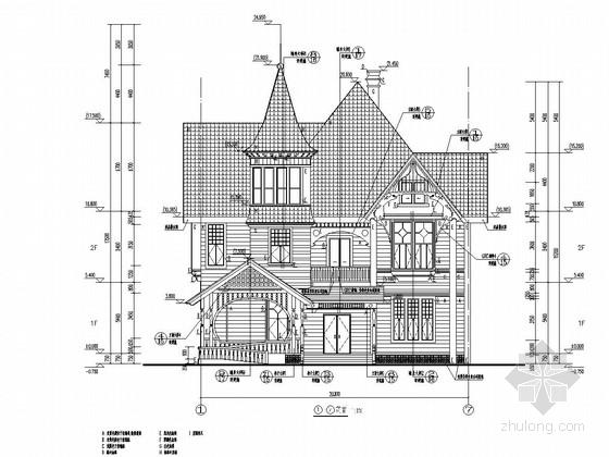 710平两层北美风情酒店建筑结构全套图
