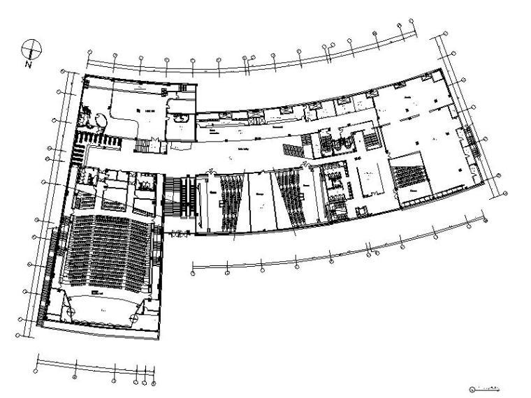 [南通]现代时尚豪华大型商场室内设计施工图(含效果图)