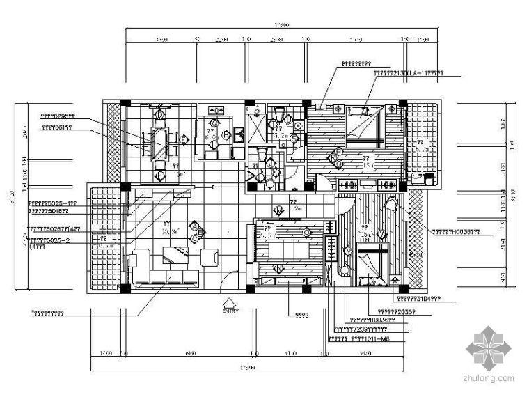 [广东]三室两厅样品房装修图