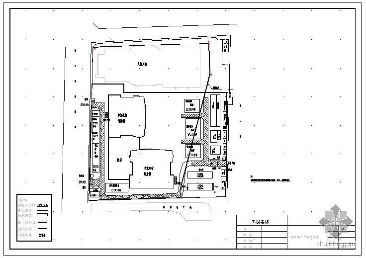 北京某通信指挥楼装饰装修施工平面布置图