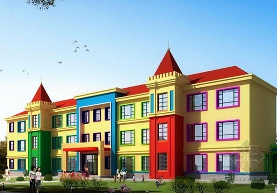 [山东]幼儿园及室外配套工程预算书(含图纸招标文件)