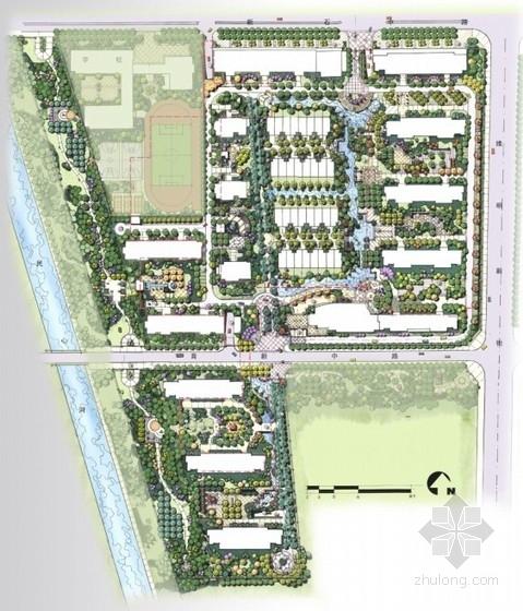 [河北石家庄]现代滨水休闲住宅区景观设计方案