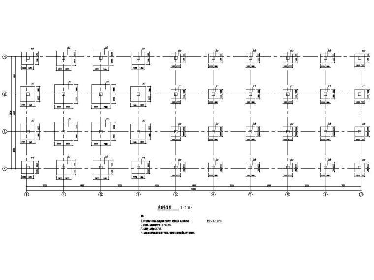 框架结构和钢结构水果加工厂房结构施工图