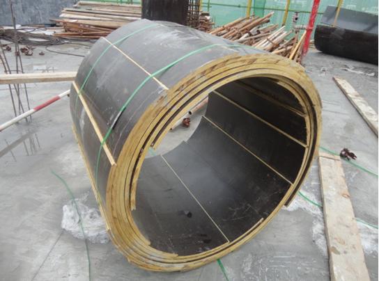 木质圆柱模板成型实体