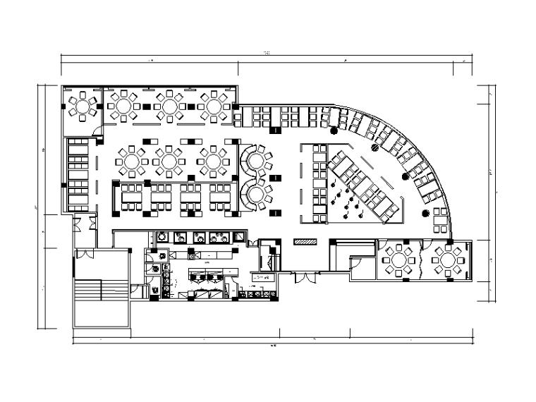 [福建]全套现代风格饭庄设计CAD施工图(含效果图)