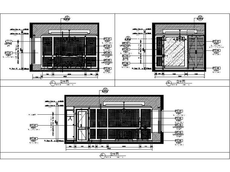 [杭州]欧式两居样板间室内设计施工图(含效果图+实景图)_4