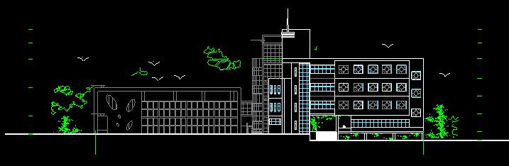 某高校艺术中心设计建筑施工图