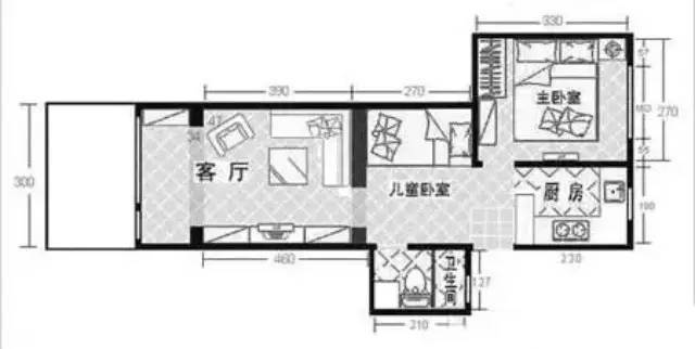 看巧改四十平小户型老房空间,变身时尚的三口之家