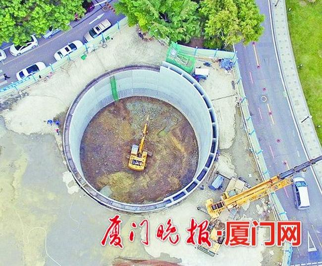 厦门海沧建首批沉井式智能停车库,2月底完工试运行