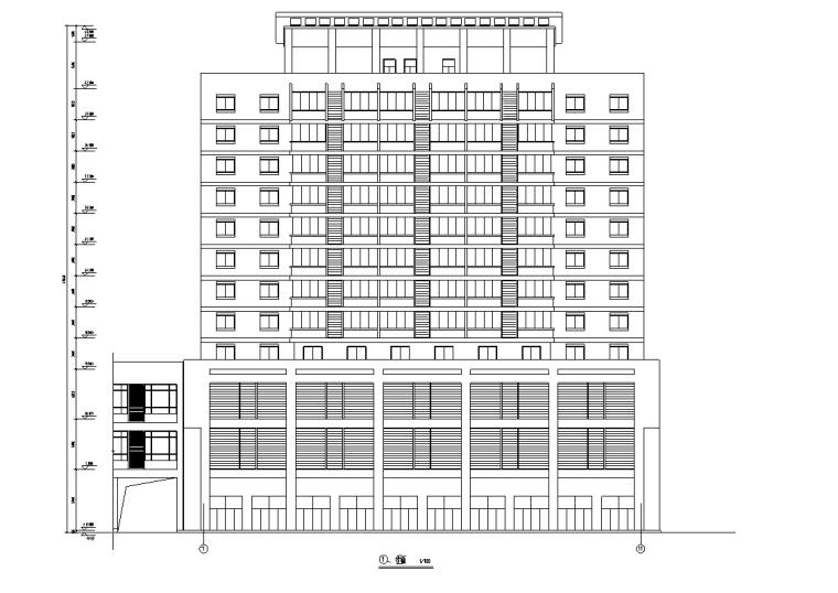 3套办公综合楼建筑设计施工图CAD