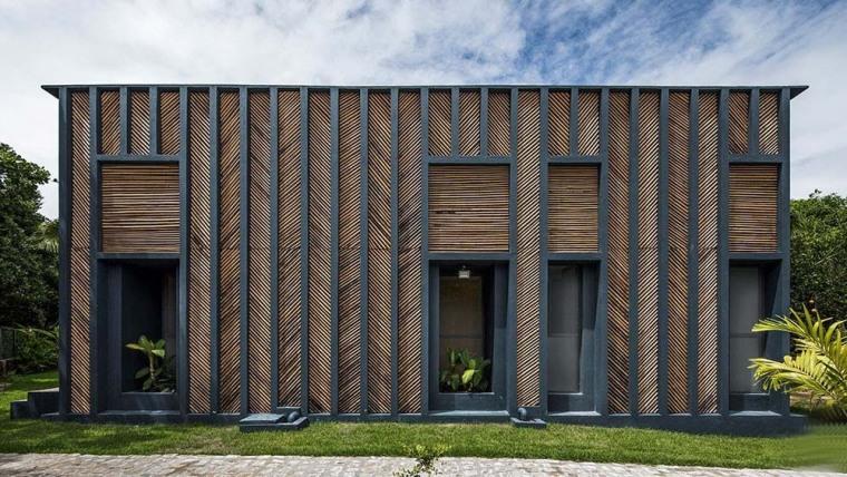 巴西人字形外立面度假竹住宅