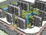 东风地块-中式小区设计方案(su模型)