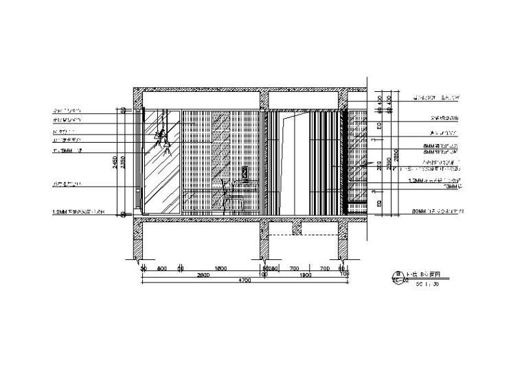 【广东】现代风格复式样板房CAD施工图(含效果图)_6