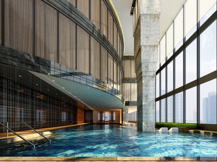 休闲游泳池3D模型下载