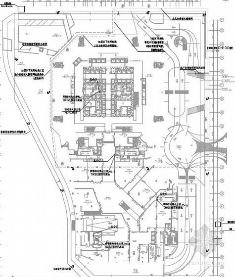 [广东]46万平地标性甲级商务写字楼临时给排水消防施工图