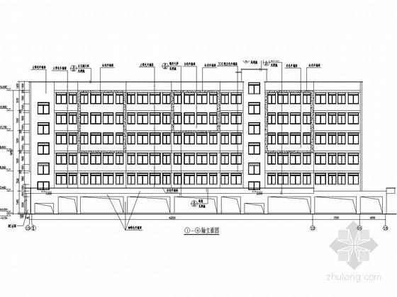 5600平六层底框结构房管局员工宿舍结构施工图(含建筑图)
